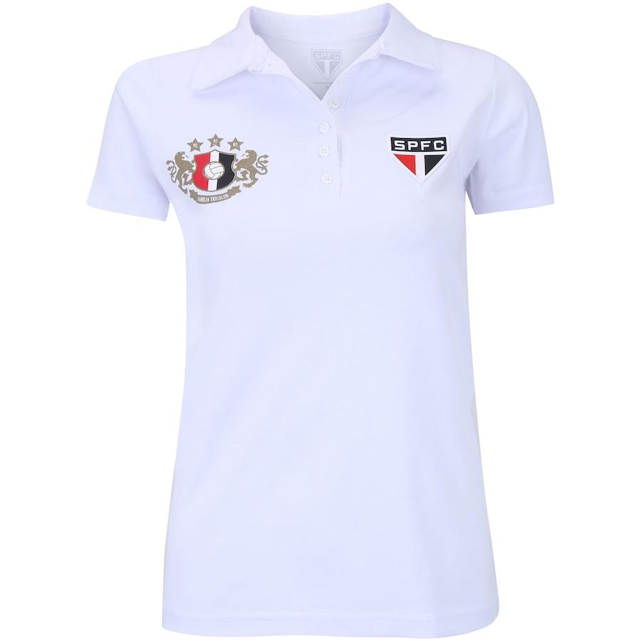 Camisa Polo do São Paulo Família Tricolor - Feminina 65e31e401f1