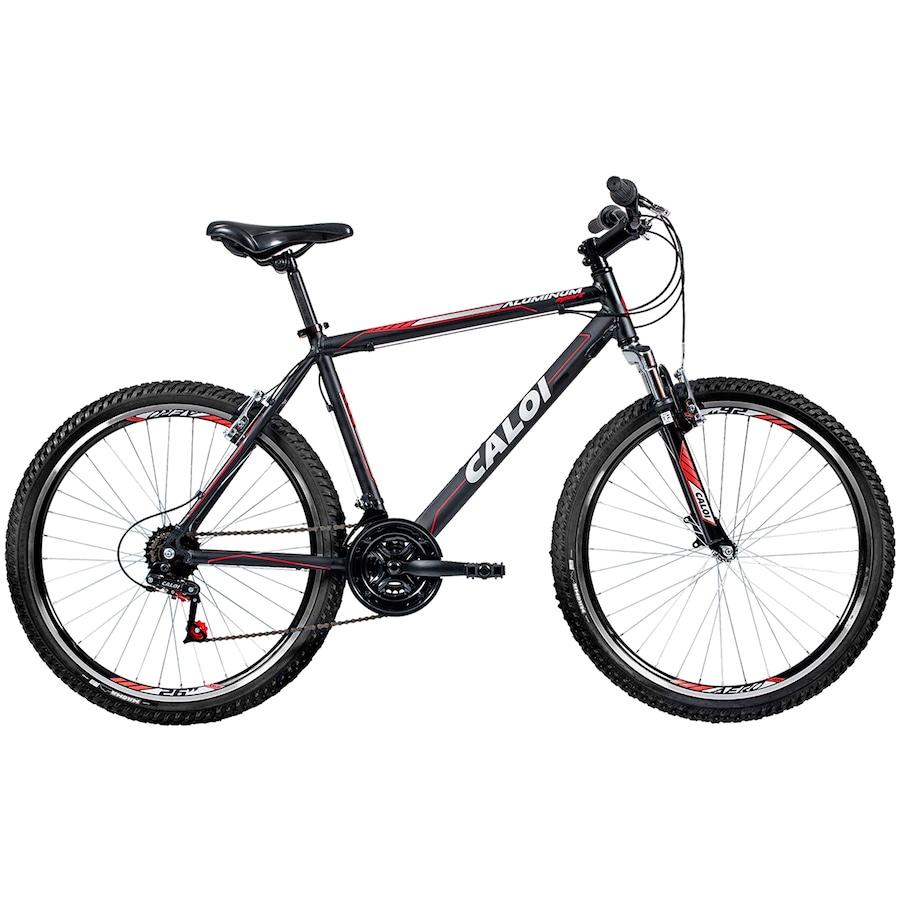 Mountain Bike Caloi Aluminum Sport - Aro 26 - Freio V-Brake - 21 Marchas b73040e6378ca