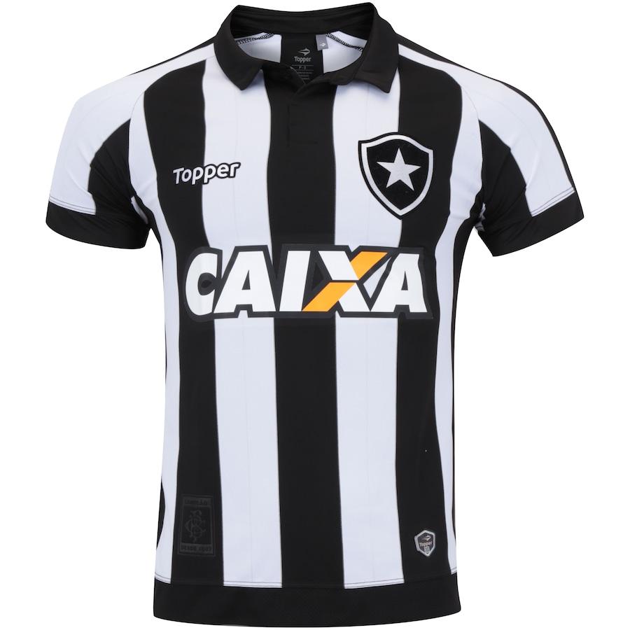 aef8c1f2bcc41 Camisa do Botafogo I 2017 Topper com Patrocínio - Masculina