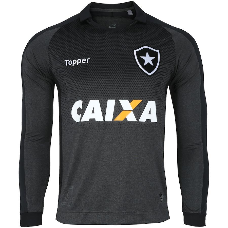 e02d3cebc7 Camisa Manga Longa do Botafogo II 2017 Topper - Masculina