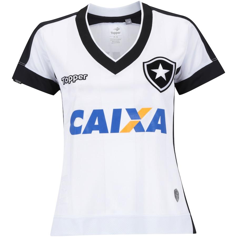 425168edb0 Camisa do Botafogo III 2017 Topper com Patrocínio - Feminin