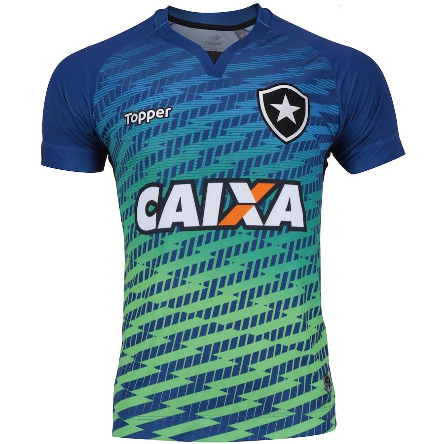 Camisa de Goleiro do Botafogo I 2017 Topper com Patrocínio 1c4f7688c0512