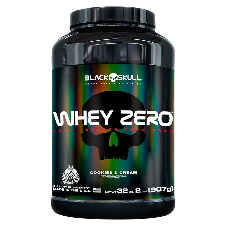 Whey Protein Black Skull Biscoito e Creme ISO Zero - 907g