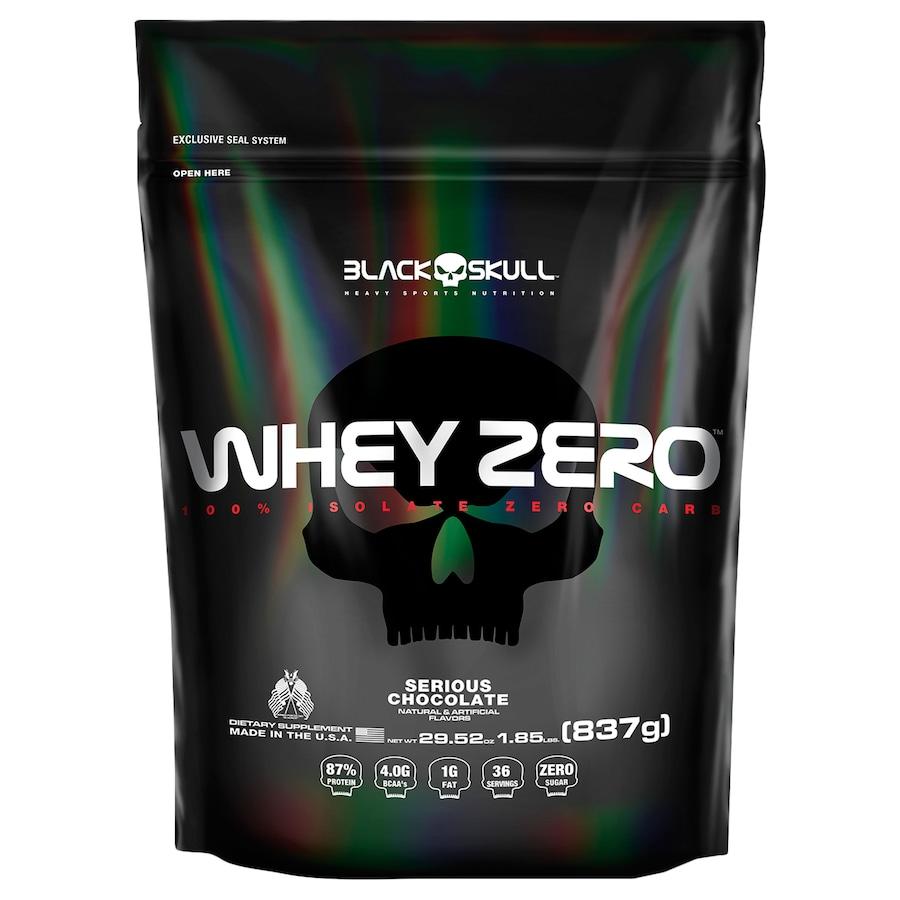 Whey Protein Black Skull Chocolate ISO Zero Refil - 837g