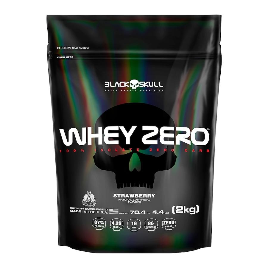 Whey Protein Black Skull Morango ISO Zero Refil - 2kg