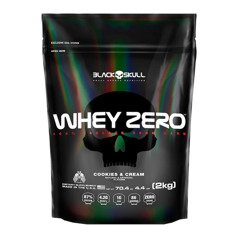 Whey Protein Black Skull Biscoito e Creme ISO Zero - 2kg