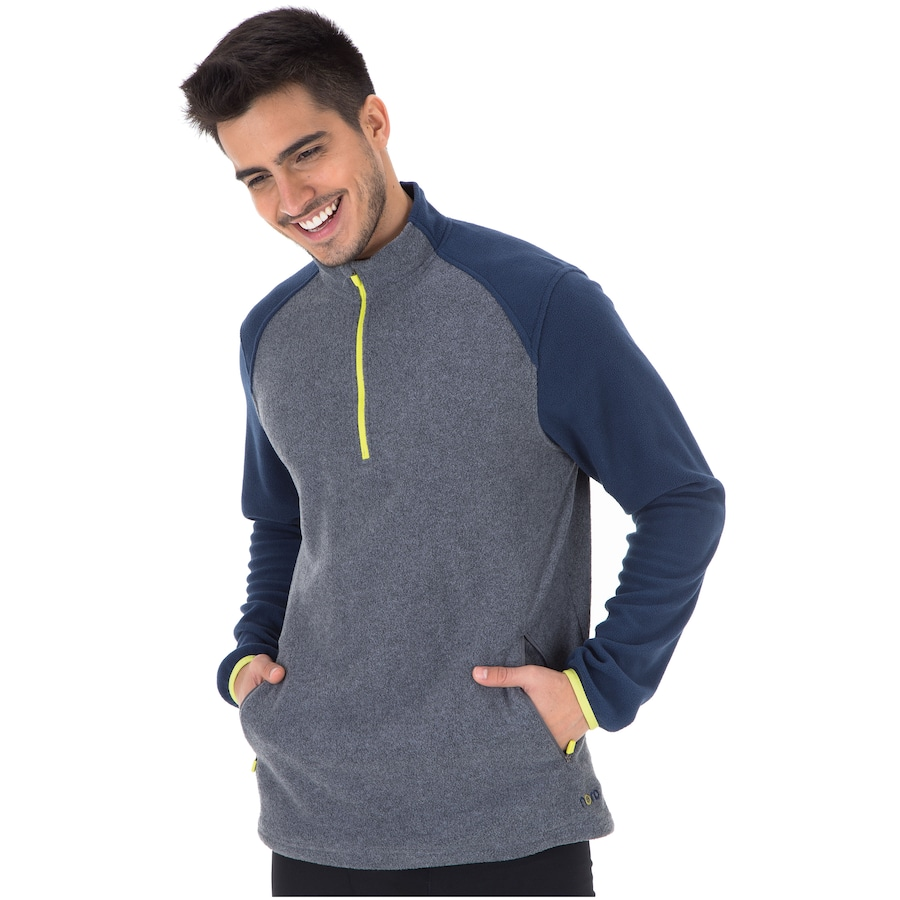 Blusa de Frio Fleece Nord Outdoor Bicolor - Masculina 2a01fd8645788