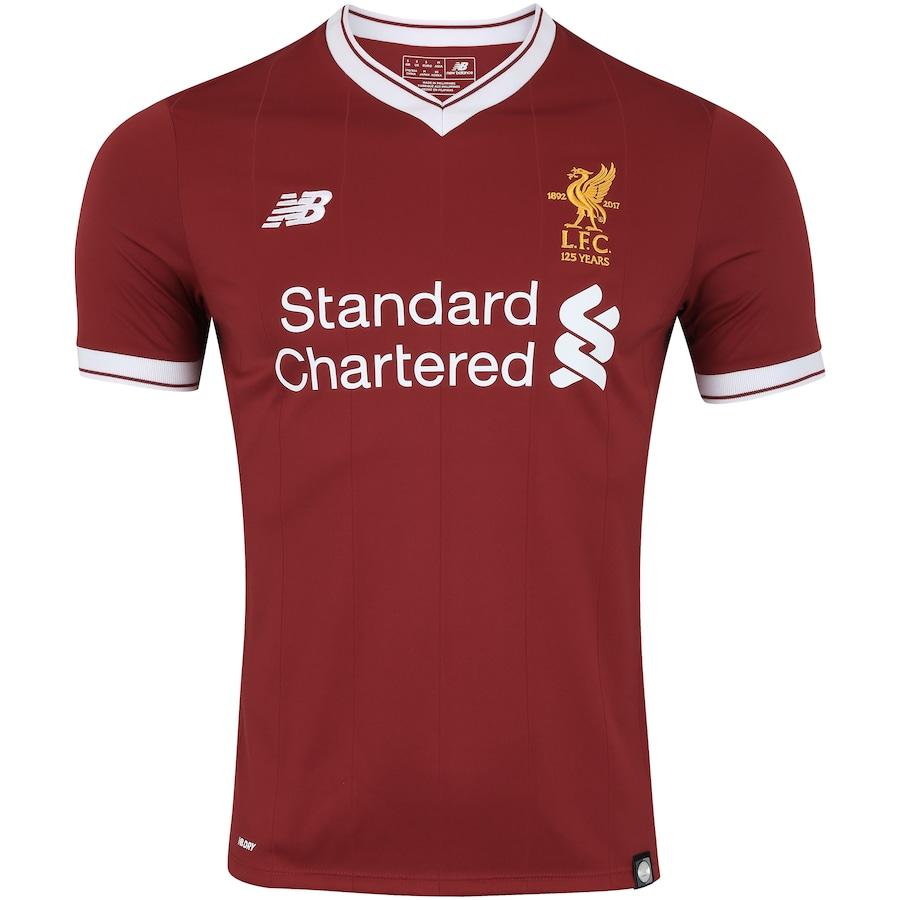 Camisa Liverpool I 17 18 New Balance - Masculina c4ffe932d9383