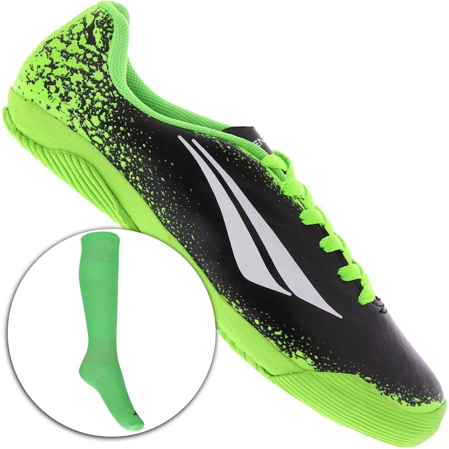 Kit Futebol  Chuteira Futsal e Meião Penalty Atletas Do Fut dec0fd612f333