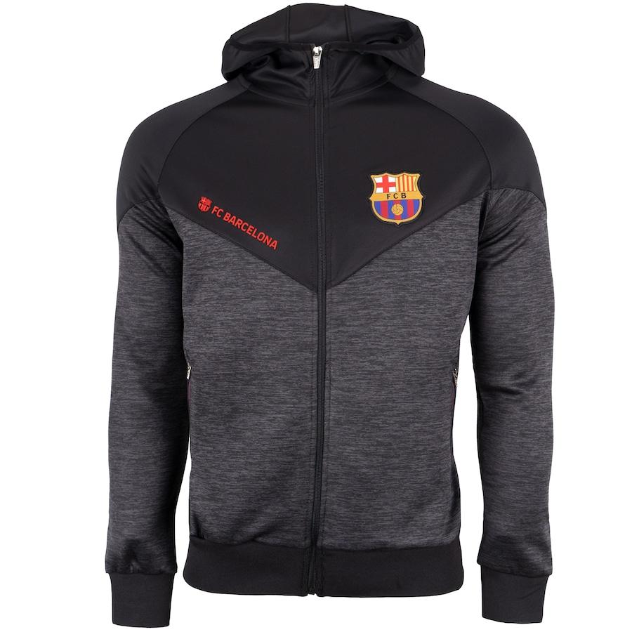 Jaqueta Barcelona com Capuz Jogador - Masculina 1d522e7fd79a1