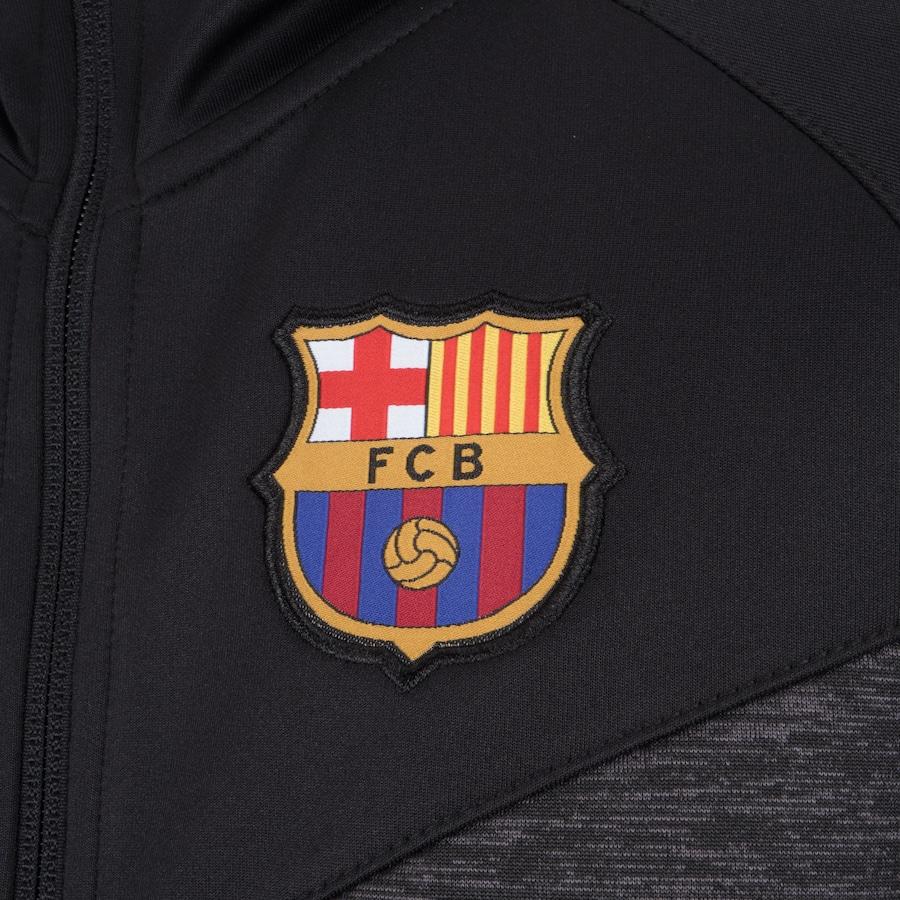 Jaqueta Barcelona com Capuz Jogador - Infantil f98c1469d04