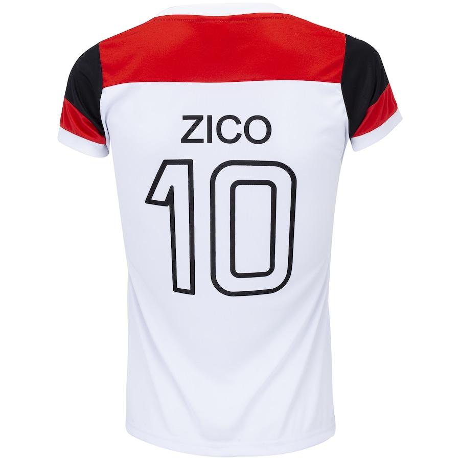 Camiseta do Flamengo Zico Retrô - Feminina 48326076ae936