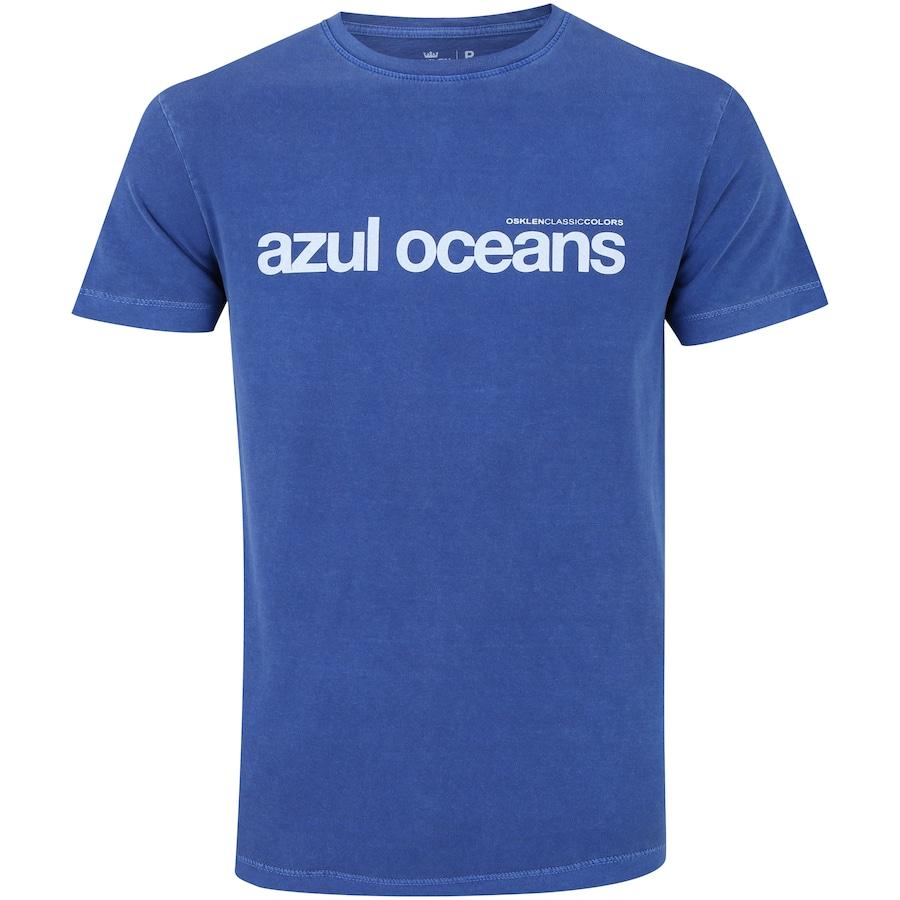 21719ef07d Camiseta Osklen Stone Vintage Azul Oceans - Masculina
