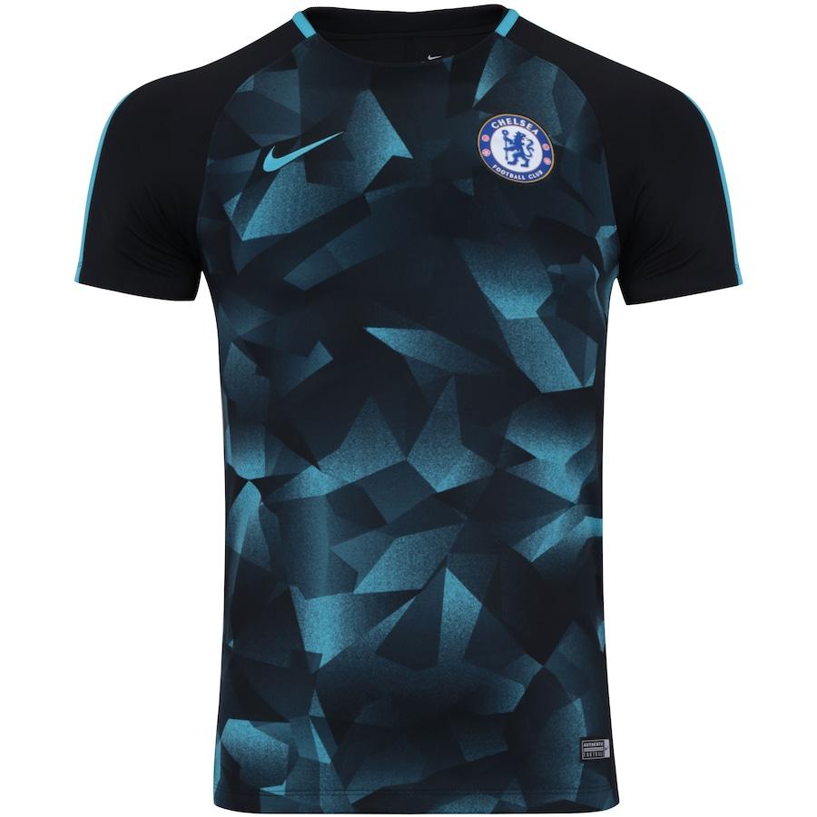 Camisa Pré-Jogo Chelsea Nike 17 18 - Masculina 515bef909d7e3