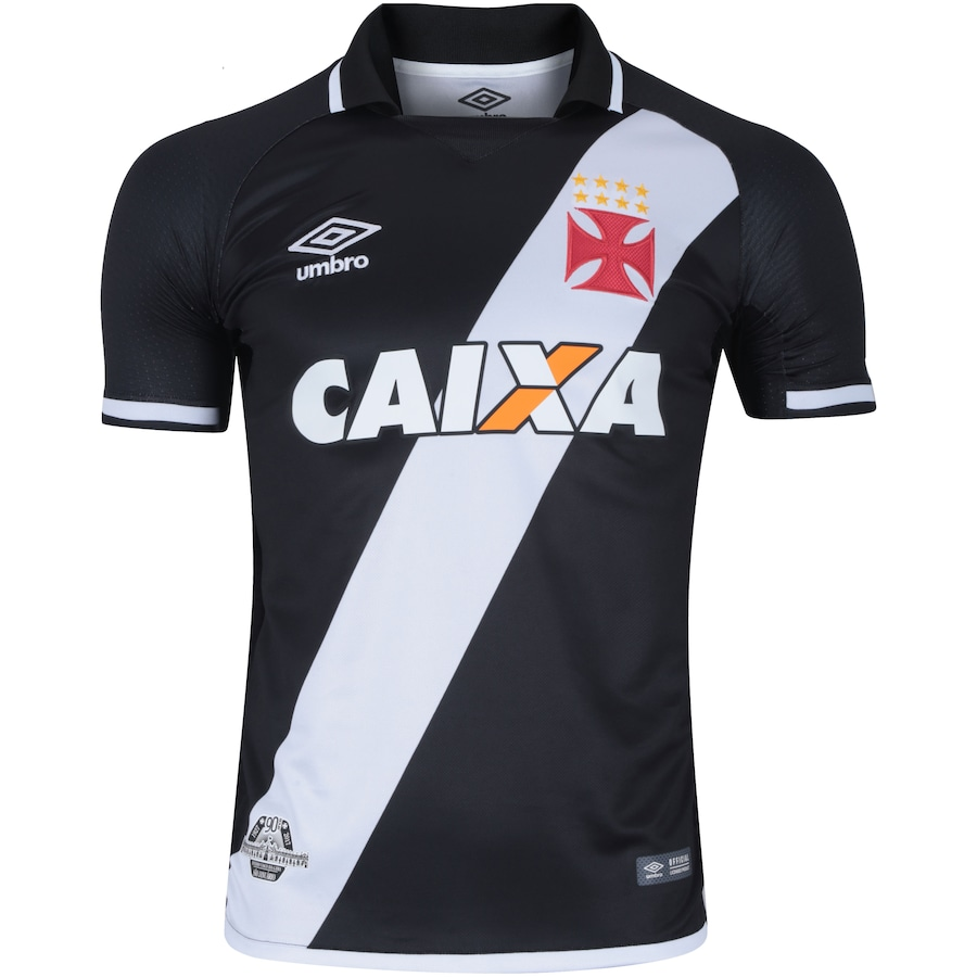 fe14db3cd88c1 Camisa do Vasco da Gama I 2017 Umbro com Patrocínio - Mascu