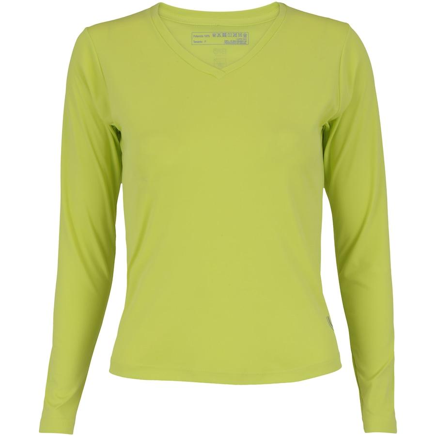 4084bc3065172 ... Camiseta Manga Longa com Proteção Solar UV Lupo Repelente - Feminina.  Imagem ampliada  Passe o mouse para ver a imagem ampliada