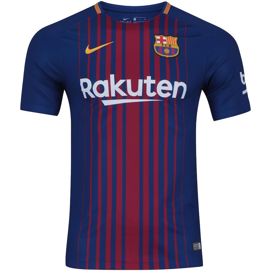 20549b1be5 Camisa Barcelona I 17 18 Nike com Patrocínio - Masculina