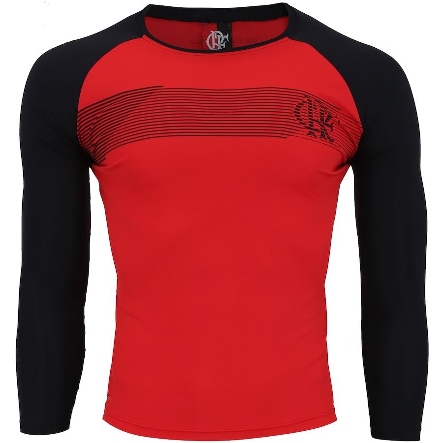 Camiseta Manga Longa do Flamengo com Proteção Solar UV Zone 9e389b24494d0