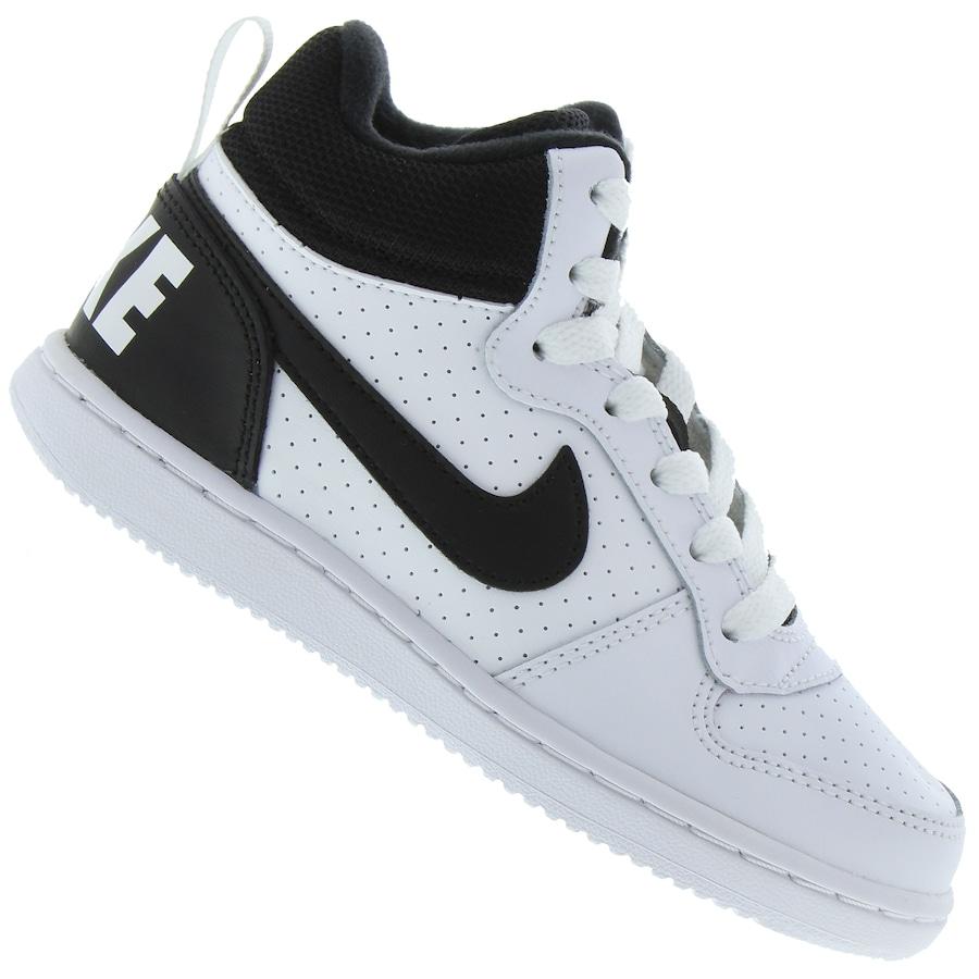 Tênis Cano Alto Nike Court Borough Mid - Infantil 5243f74bc66