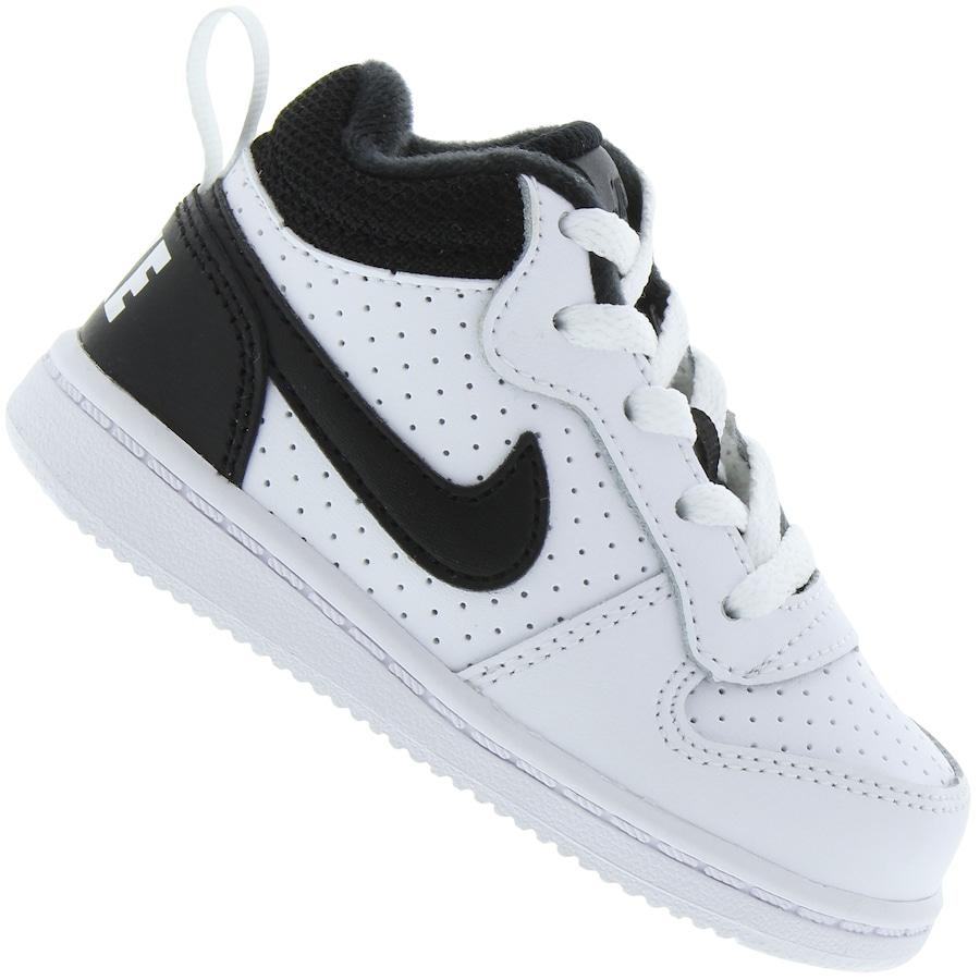 0226fcae93 Tênis Cano Alto para Bebê Nike Court Borough Mid TD