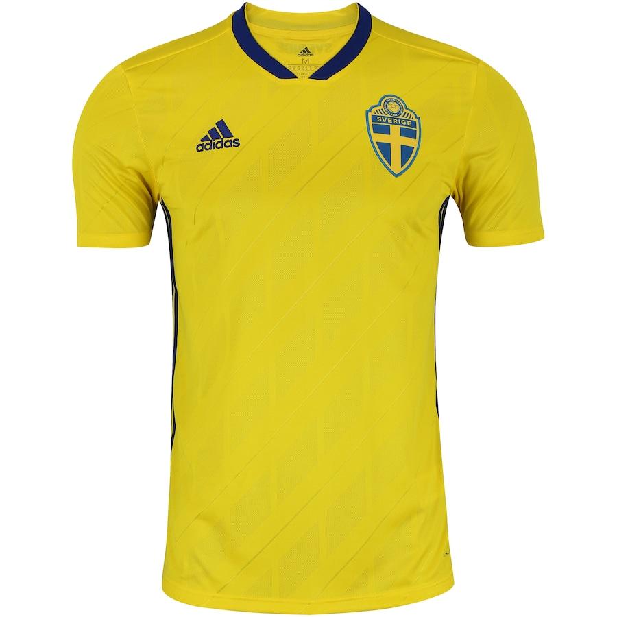 Camisa Suécia I 2018 adidas - Masculina 8d2aeecd1bc32