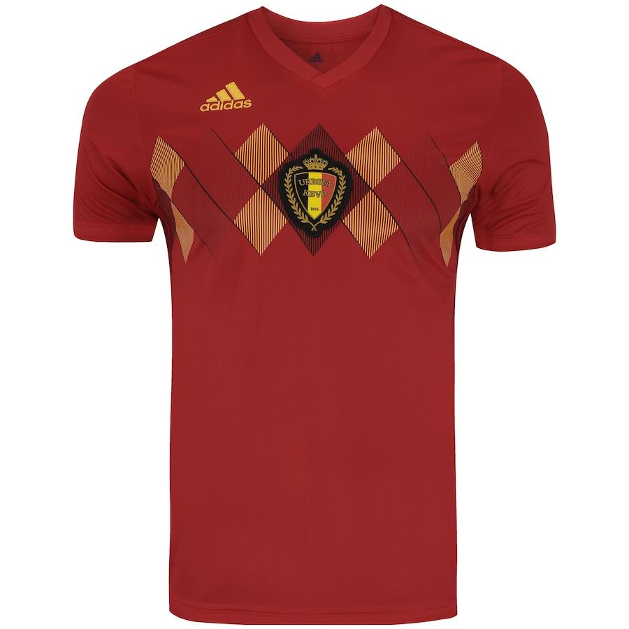 Camisa Bélgica I 2018 adidas - Masculina 7ee47ea9a1570