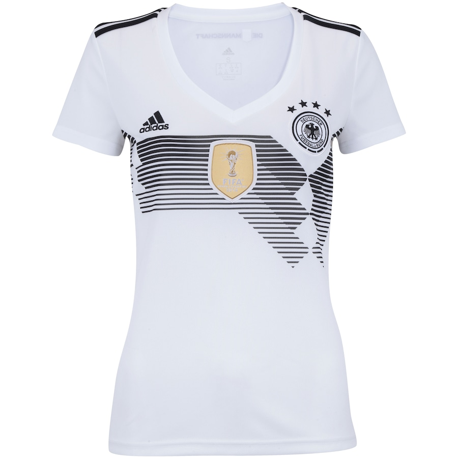Camisa Alemanha I 2018 adidas - Feminina dbd1ead42c7
