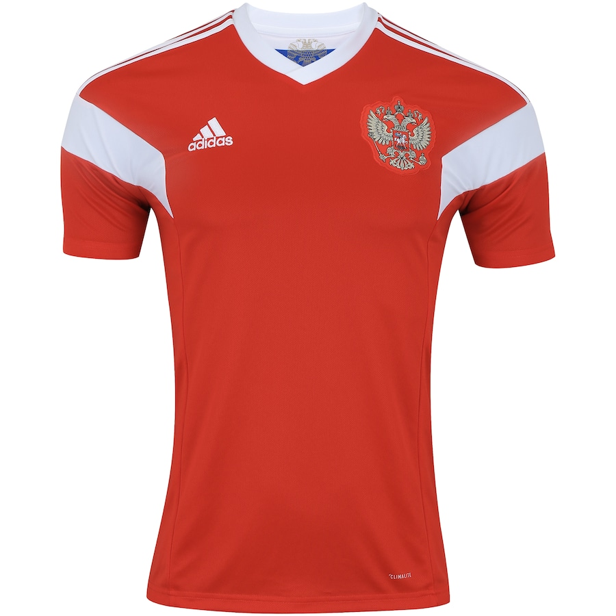 Camisa Rússia I 2018 adidas - Masculina 8e53608648306