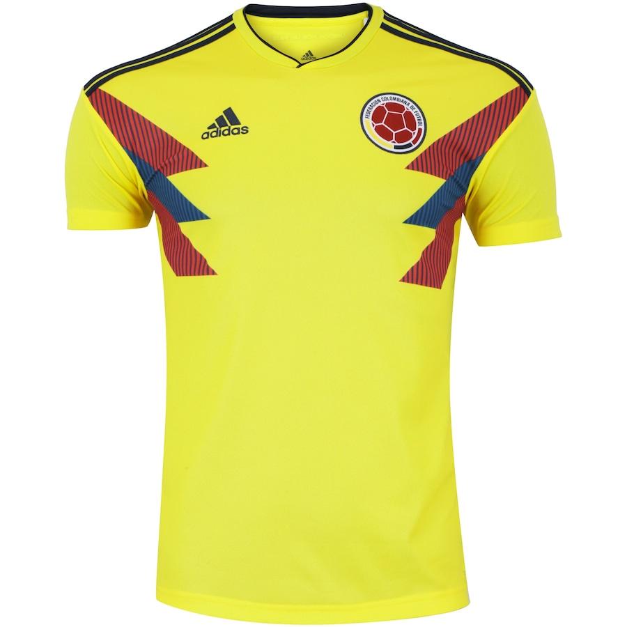 ec092ba8e4224 Camisa Colômbia I 2018 adidas - Masculina