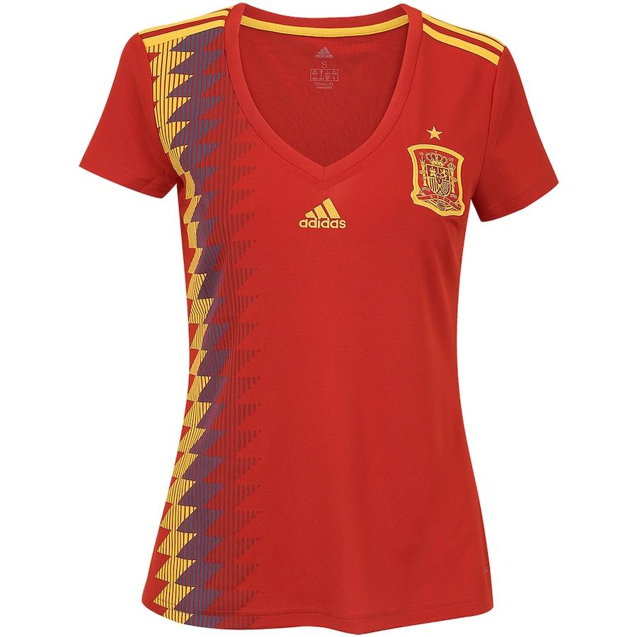 236bf2bf76e90 Camisa Espanha I 2018 adidas - Feminina
