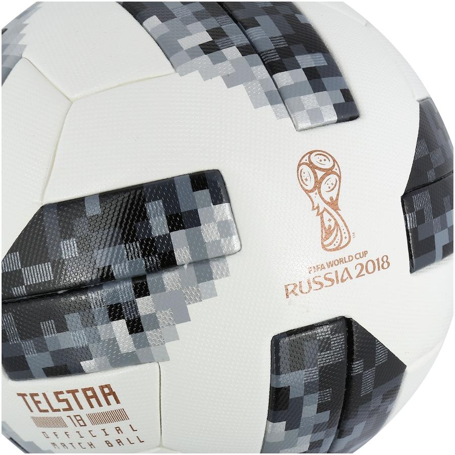 8211fc0b0 Bola de Futebol de Campo Telstar Oficial Copa do Mundo FIFA 2018 adidas OMB