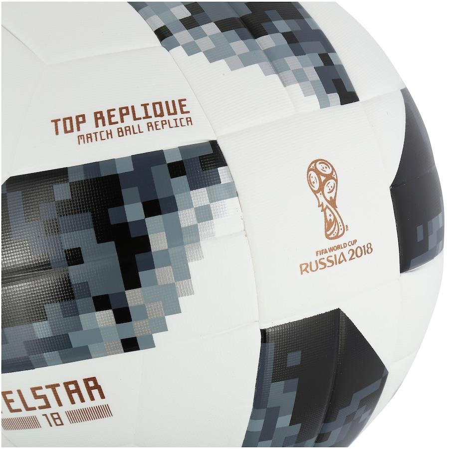 ... Bola de Futebol de Campo Telstar Oficial Copa do Mundo FIFA 2018 adidas  Top Replique X ... 297012cf17bdb