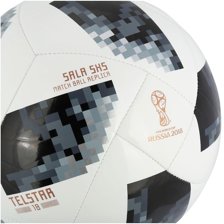 6dbf61c704 ... Bola de Futsal Telstar Oficial Copa do Mundo FIFA 2018 adidas 5X5 ...
