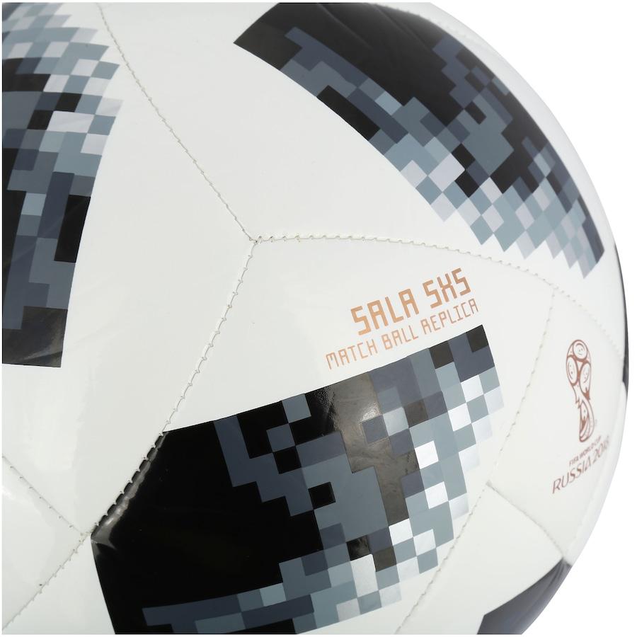 f64b665e70 ... Bola de Futsal Telstar Oficial Copa do Mundo FIFA 2018 adidas 5X5