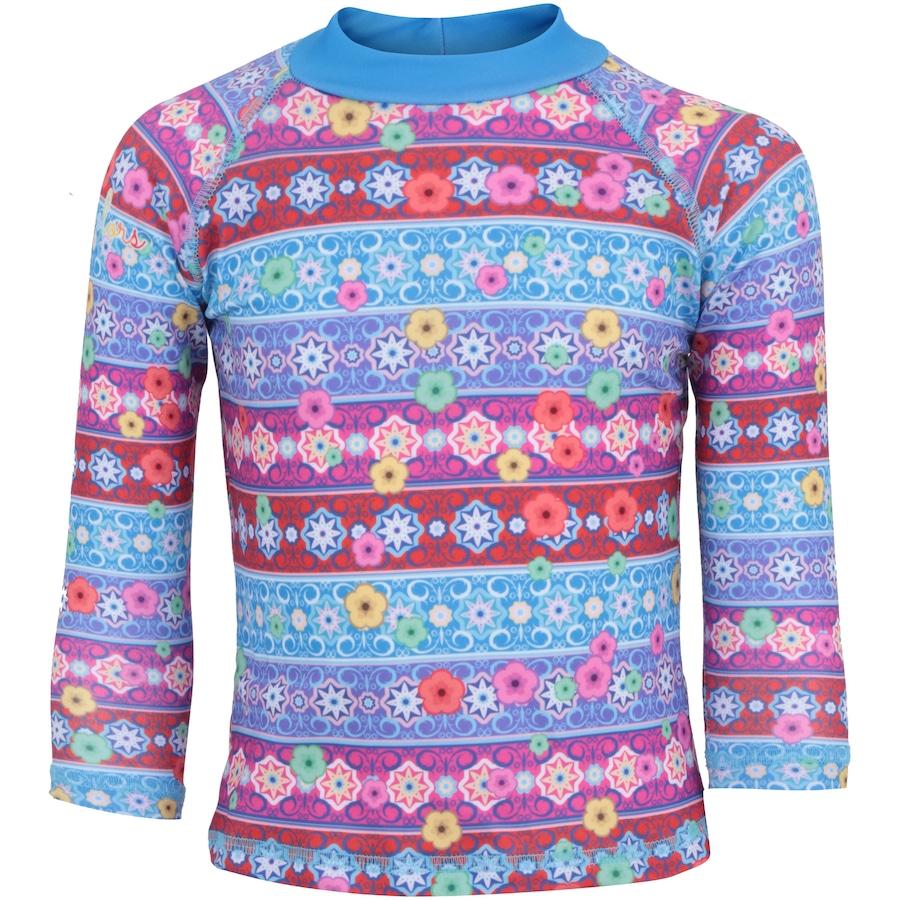 fb51fcafd Camiseta Manga Longa com Proteção Solar UV Swim Colors Mari