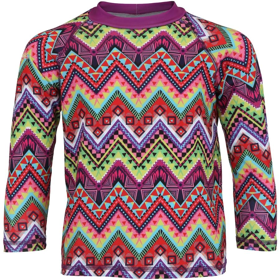 Camiseta Manga Longa com Proteção Solar UV Swim Colors Geo 176df7269a122