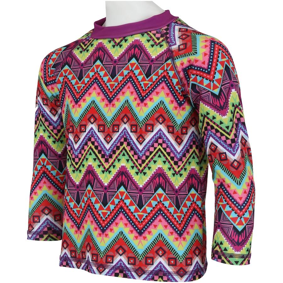 ... Infantil Camiseta Manga Longa com Proteção Solar UV Swim Colors Geo  Colors 2 Feminina ... a3b9648964d1b