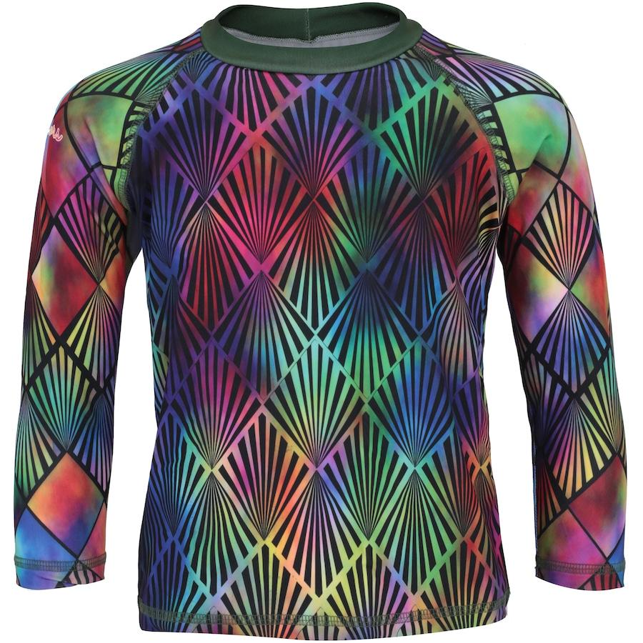 Camiseta Manga Longa com Proteção Solar UV Swim Colors Geo Colors 5 Feminina  - Infantil 1da15110cf33d