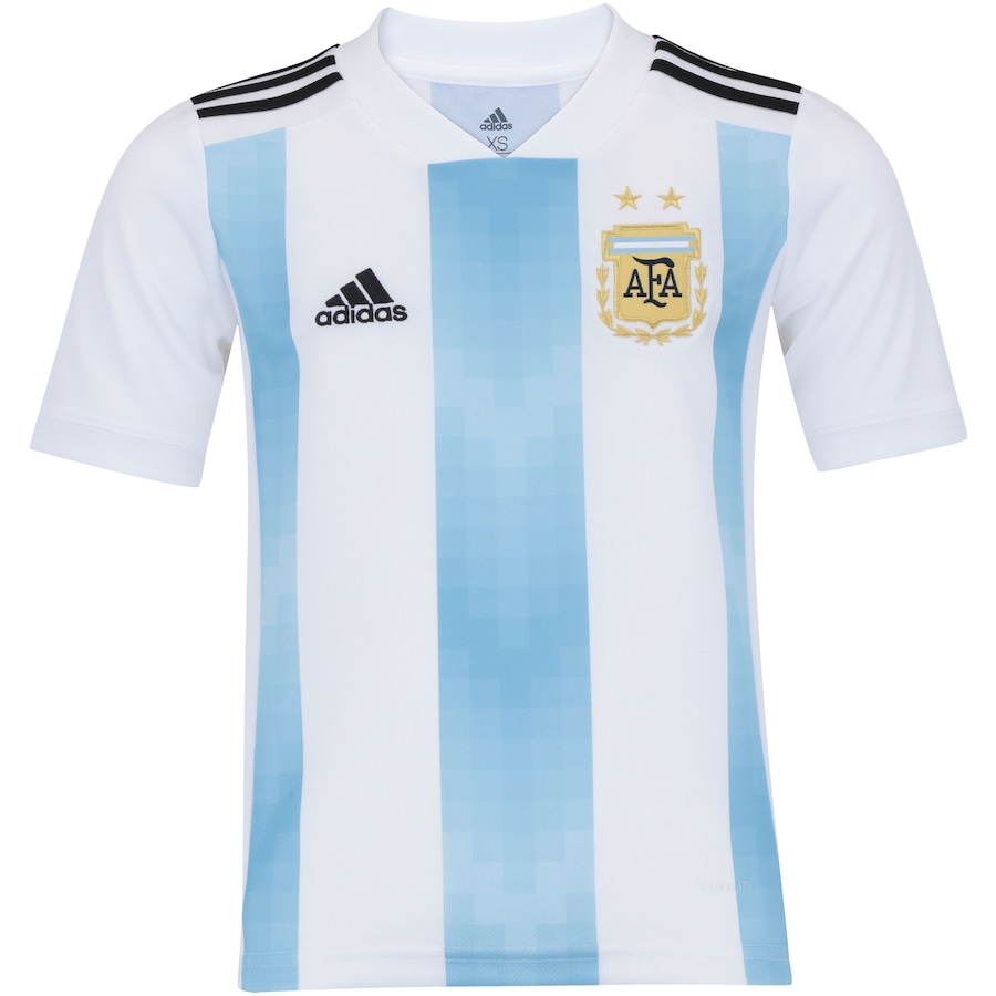 Camisa Argentina I 2018 adidas - Infantil b9185127b33c4