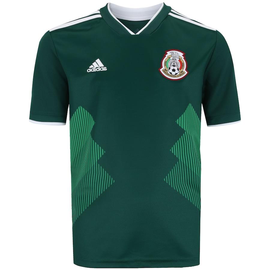 Camisa México I 2018 adidas - Infantil bb127c24573e8