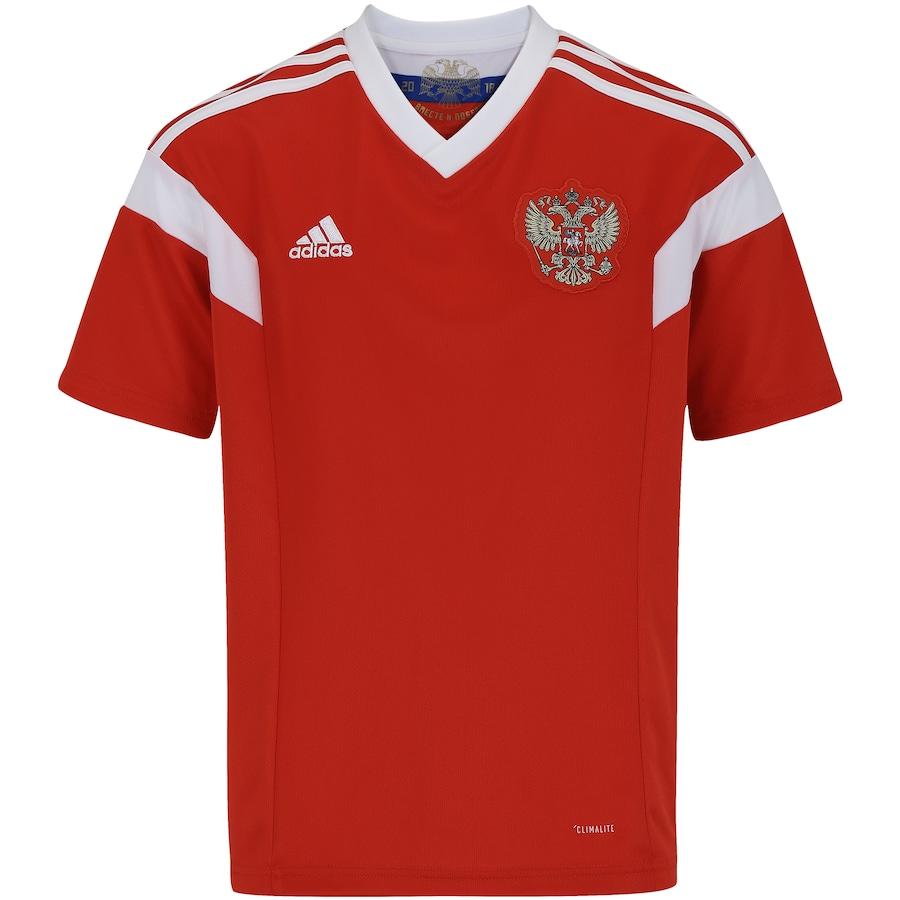 Camisa Rússia I 2018 adidas - Infantil 52aa1ba92df35