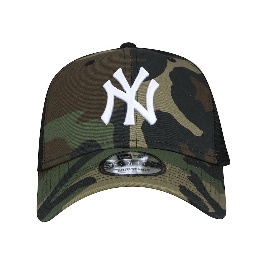 4d6d068d95dc6 Boné Aba Curva New Era 940 New York Yankees SN Camo - Snap