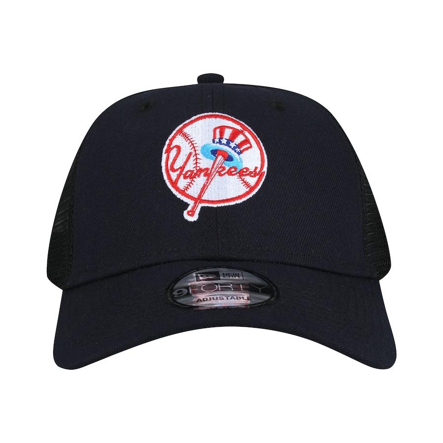 Boné Aba Curva New Era 940 New York Yankees SN Azul Escuro e4b77978f94
