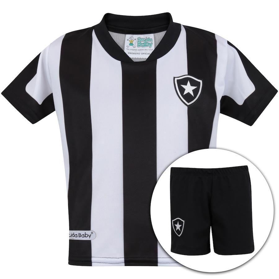 Kit Uniforme Futebol Botafogo  Camisa + Calção - Infantil 03192a1d6b3c5