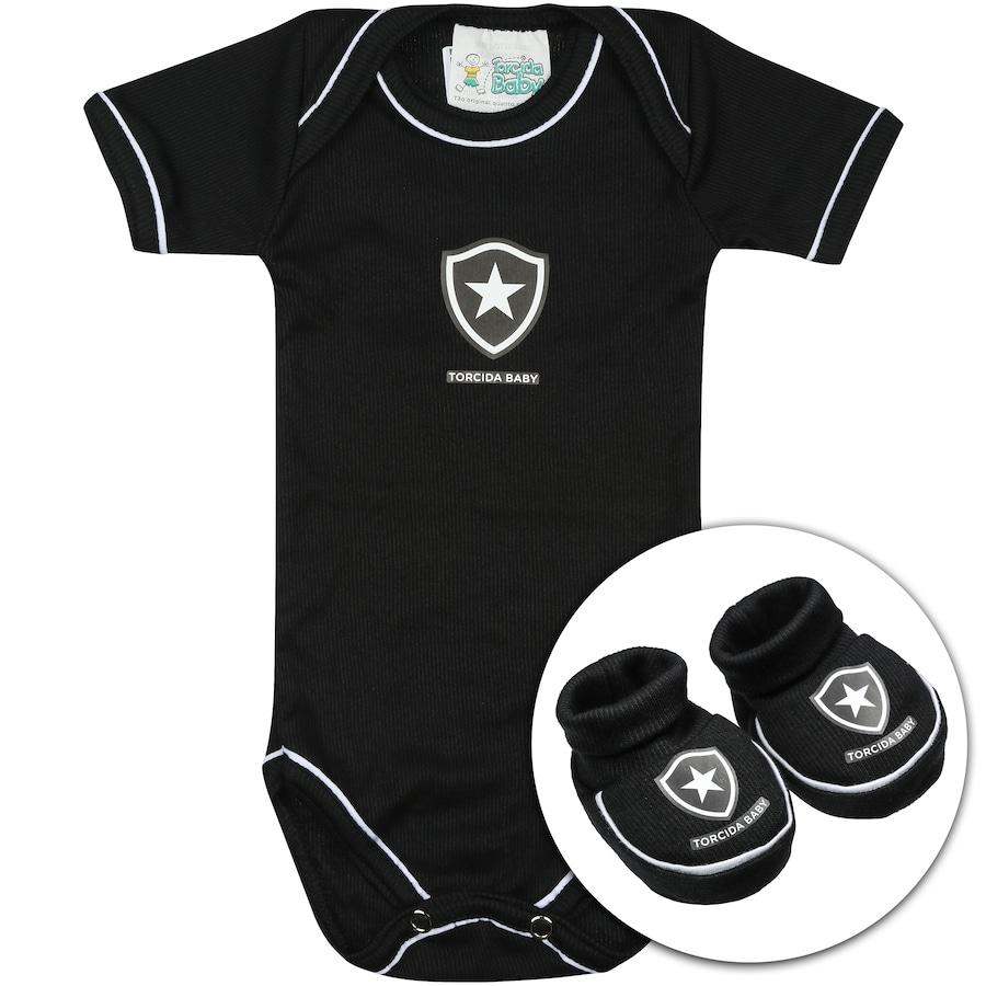 5e24b42ceb513 Kit Uniforme Futebol Botafogo para Bebê  Body + Pantufa
