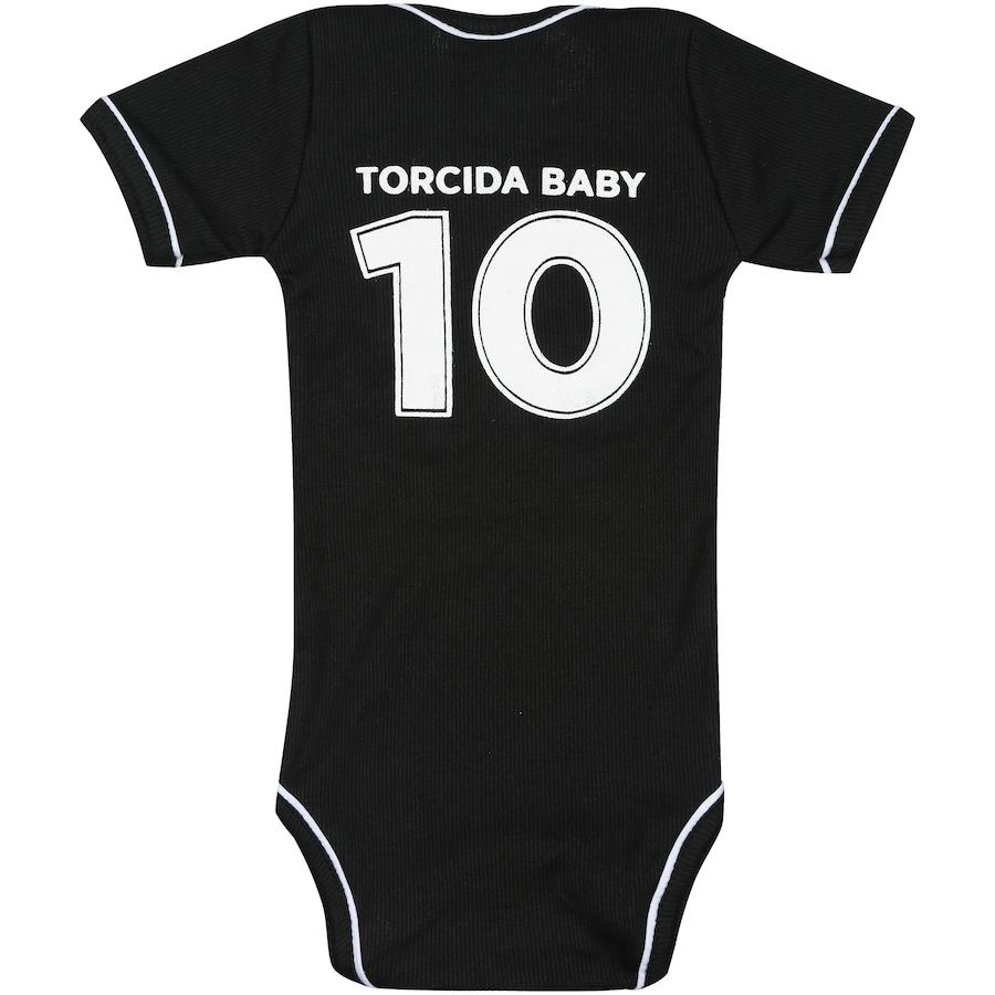 ... Kit de Uniforme de Futebol do Botafogo para Bebê  Body + Pantufa -  Infantil ... 553a4a8bb9ec7