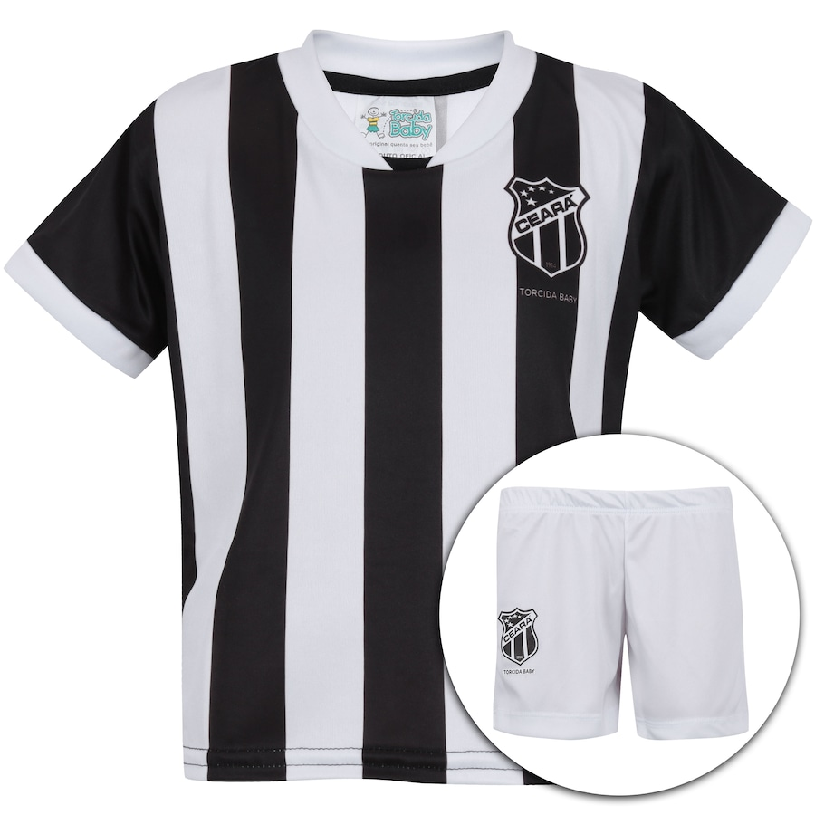 Kit Uniforme Futebol Ceará  Camisa + Calção - Infantil 743b35f105249