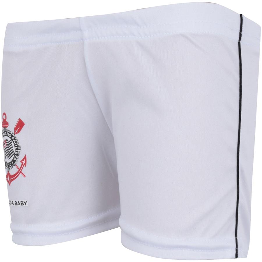 ... Infantil Kit de Uniforme de Futebol do Corinthians para Bebê  Camisa +  Calção ... 8374d98656430