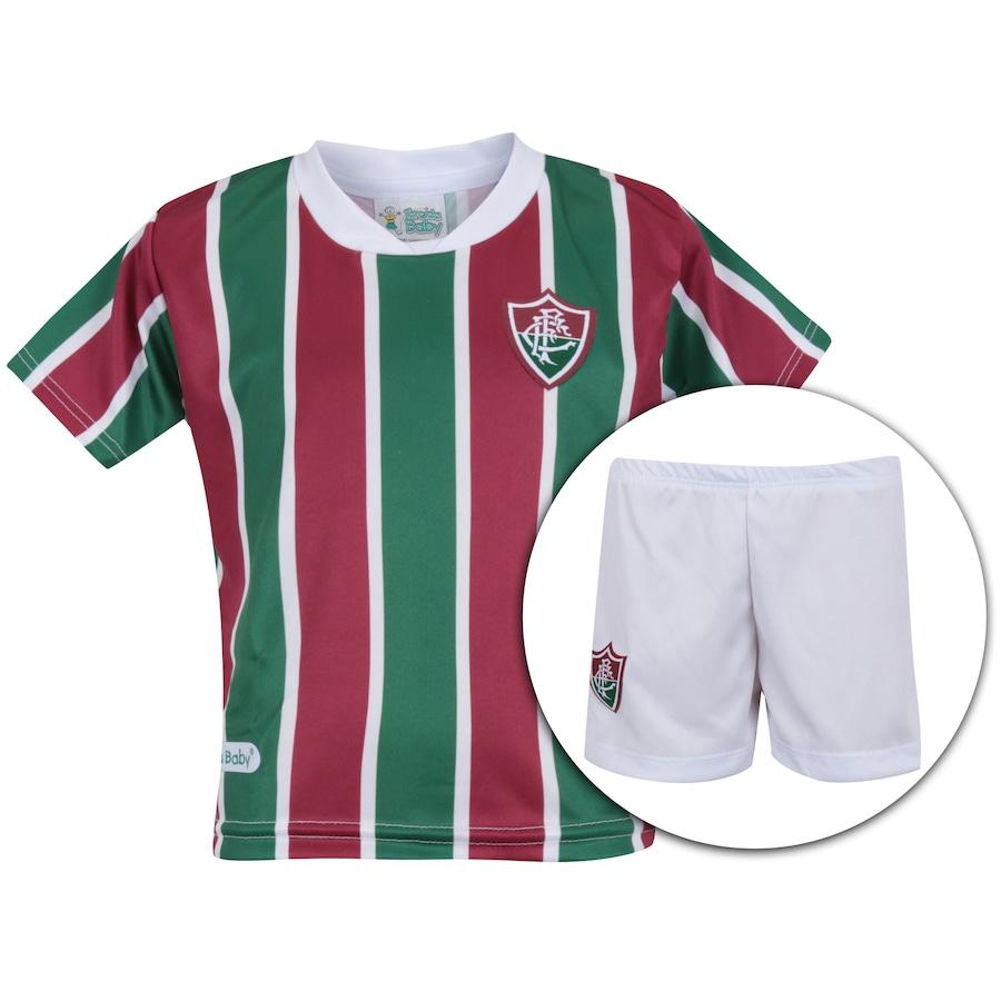 9e4d947d7edb7 Kit Uniforme Futebol Fluminense  Camisa + Calção - Infantil