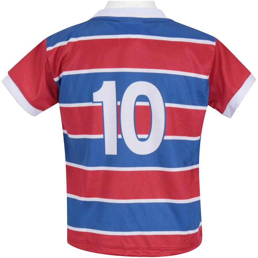 86bed8093c ... Infantil Kit de Uniforme de Futebol do Fortaleza  Camisa + Calção ...